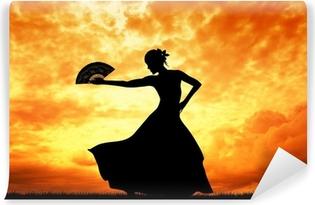 Papier peint lavable Femme danse flamenco