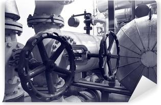 Papier peint lavable Gaz de l'industrie et de tuyaux d'huile