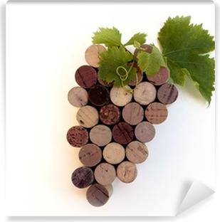 """Papier peint lavable Grappe de """"bouchon en liège"""" - Symbolisation du Vin"""