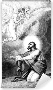 Papier peint lavable Jésus en prière sur le mont des Oliviers