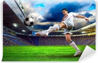 Papier peint lavable Le joueur de football sur le terrain du stade