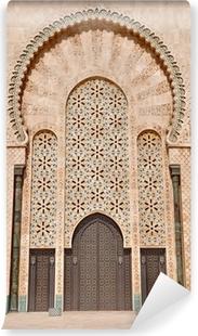 Papier peint lavable Les portes de la Mosquée Hassan II, situé à Casablanca est le