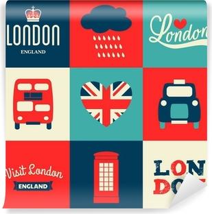 Papier peint lavable Londres Cartes Collection