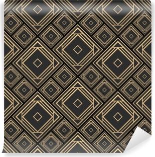 Sticker Vitre Modele Sans Couture Dans Le Style Art Deco Carrelage