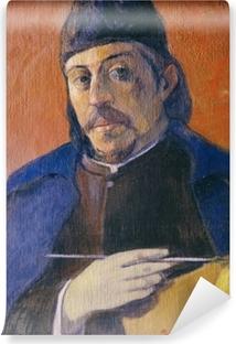 Papier peint lavable Paul Gauguin - Autoportrait à la palette