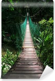 Papier peint lavable Pont suspendu dans la jungle tropicale