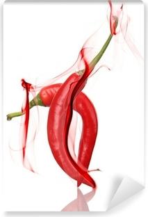 Papier peint lavable Red chili peppers danse