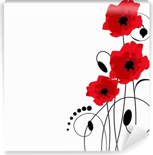 Papier peint lavable Red poppies