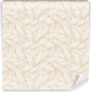 Papier peint lavable Seamless pattern mignon avec le rouge contour des feuilles d'automne sur le fond blanc (transparent). Vector illustration