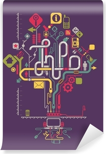 Papier peint lavable Sociales graphiques d'information du réseau, arbre vecteur