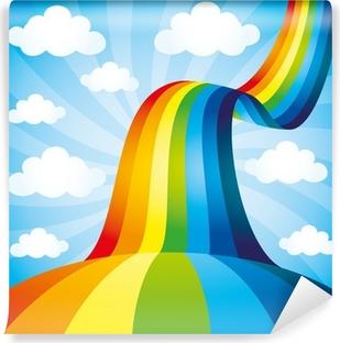 Papier peint lavable Vecteur de fond. Rainbow.