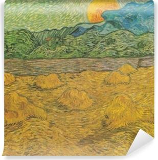 Papier peint lavable Vincent van Gogh - Paysage de Soirée avec Lune Montante