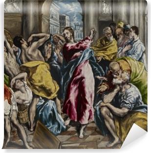 Papier peint vinyle Le Greco - L'Expulsion des marchands du temple