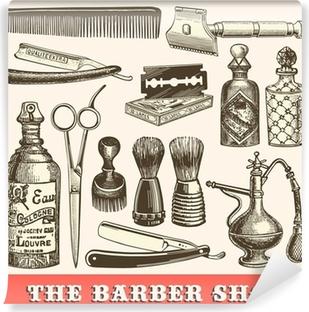 Papier peint vinyle Le salon de coiffure