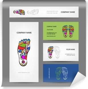Papier Peint Autocollant Les Cartes De Visite Conception Massage Rflexologie Plantaire