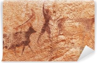Papier peint vinyle Les peintures rupestres du Tassili N'Ajjer, en Algérie