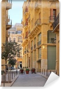 Papier peint vinyle Les rues du centre-ville de Beyrouth (Liban) en HDR or