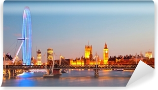 Papier peint vinyle London Eye Panorama