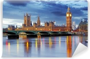 Papier peint vinyle Londres - Big Ben et les maisons du parlement, Royaume-Uni