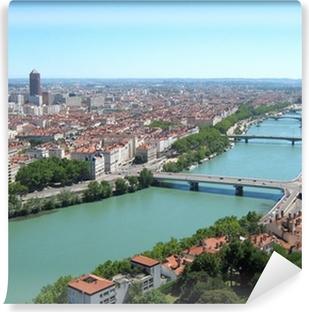 Papier peint vinyle Lyon ville panorama