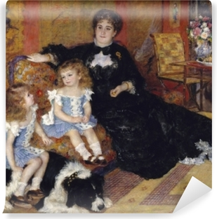 Papier peint vinyle Madame Georges Charpentier and Her Children, Georgette-Berthe and Paul-Émile-Charles