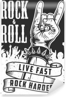Papier peint vinyle Main dans le signe du rock n roll