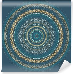Papier peint vinyle Mandala. Motif décoratif indien.