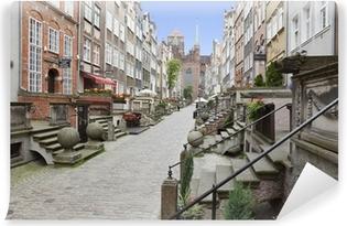 Papier peint vinyle Mariacka rue dans la vieille ville de Gdansk, en Pologne