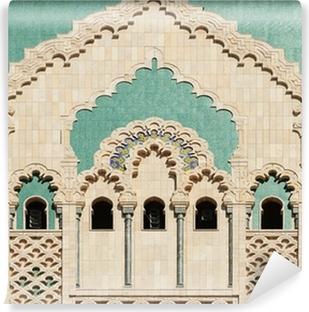 Papier peint vinyle Maroc. Détail de la Mosquée Hassan II à Casablanca