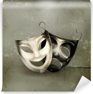 Papier peint vinyle Masques de théâtre, à l'ancienne