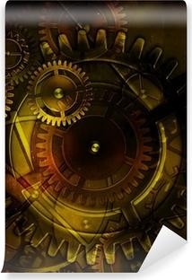 Papier peint vinyle Mécanisme d'engrenage vieux steampunk sur fond de vieux pa cru
