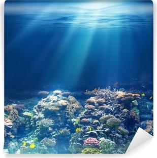 Papier peint vinyle Mer ou l'océan récif corail sous-marin