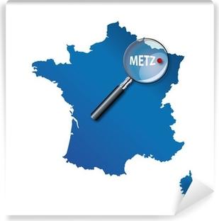Papier peint vinyle Metz: Carte de France - département de la Moselle