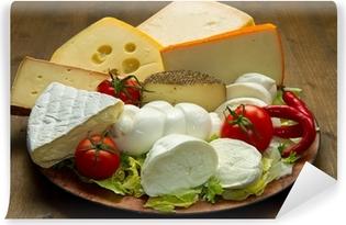 Papier peint vinyle Mixte plateau de fromages