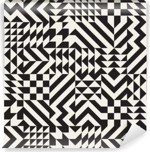 Papier peint vinyle Modèle de blocs de triangle géométrique irrégulier noir et blanc de vecteur motif de blocs de losange