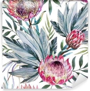 Papier peint vinyle Modèle de protea tropical