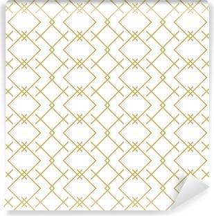 Papier peint vinyle Modèle élégant linéaire géométrique vectorielle continue en or