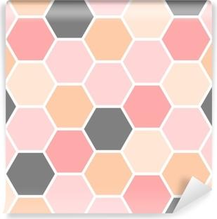 Papier peint vinyle Modèle sans couture d'hexagone