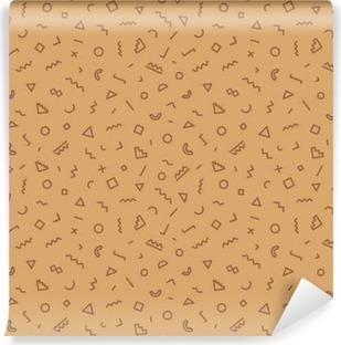 Papier peint vinyle Moquette transparente Memphis couleur marron