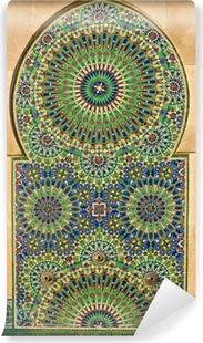 Papier peint vinyle Mosaïque fleurie sur une mosquée marocaine