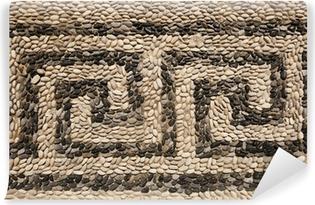 Papier peint vinyle Motif de frise grecque avec des pierres