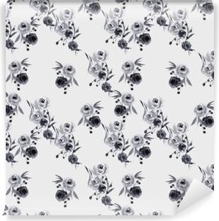 Papier peint vinyle motif floral Minimaliste - Nina Ho