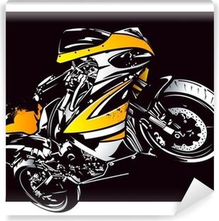 Papier peint vinyle Moto Sport