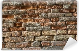 Papier peint vinyle Mur briques anciennes