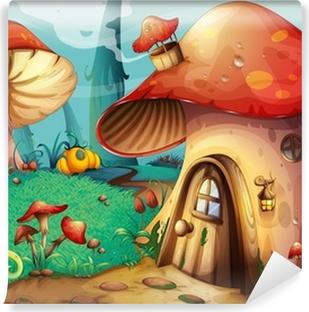 Papier peint vinyle Mushroom house