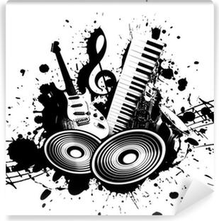 Papier peint vinyle Music grunge