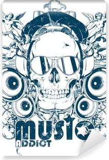 Papier peint vinyle Musique addict