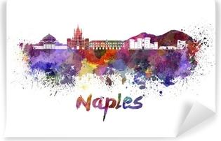 Papier peint vinyle Naples horizon à l'aquarelle