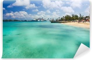 Papier peint vinyle Nassau Bahamas plage privée