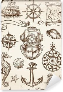 Papier peint vinyle Nautical Set Vector Illustration